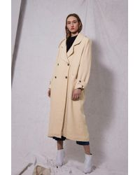 TOPSHOP - Linen Trench Coat By Boutique - Lyst
