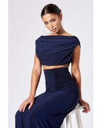Club L - cowl Back Co-ord Crop Top By - Lyst