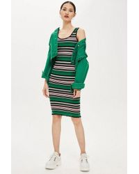 022f179d1c7fb TOPSHOP Maternity Bodycon Nursing Dress in Green - Lyst