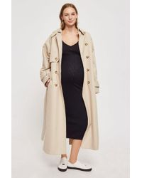 TOPSHOP - Maternity Wide V-neck Ribbed Bodycon Dress - Lyst