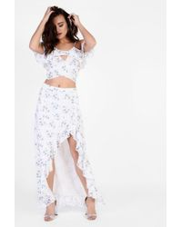 Glamorous - Floral Midi Skirt By - Lyst