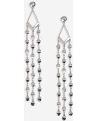 TOPSHOP - Curve And Disc Drop Earrings - Lyst