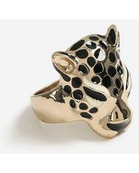 TOPSHOP - Leopard Head Ring - Lyst