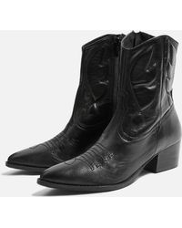 TOPSHOP - Western Boots - Lyst