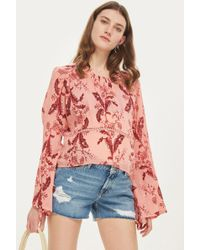 TOPSHOP - Maternity Ripped 'ashley' Shorts - Lyst