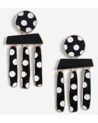 TOPSHOP - polka Dot Mobile Drop Earrings - Lyst