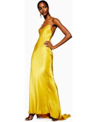 TOPSHOP - Satin Chain Maxi Dress - Lyst