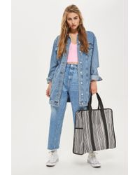 TOPSHOP | Luna Stripe Luggage Bag | Lyst