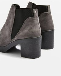 TOPSHOP - Suedette Ankle Boots - Lyst
