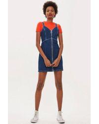 TOPSHOP - Indigo Denim Bodycon Dress - Lyst