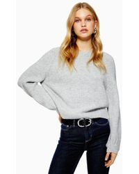 TOPSHOP - Super Soft Chevron Jumper - Lyst