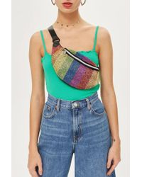 TOPSHOP - Rainbow Beaded Bumbag - Lyst