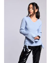 Glamorous - Tie Side Knitted Jumper By - Lyst