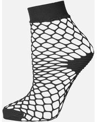 TOPSHOP - Fishnet Ankle Socks - Lyst