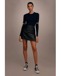 TOPSHOP - wrap Leather Skirt By Boutique - Lyst