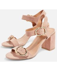 TOPSHOP - Samba Two Part Sandals - Lyst