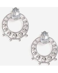 TOPSHOP - Rhinestone Circle Stud Earrings - Lyst