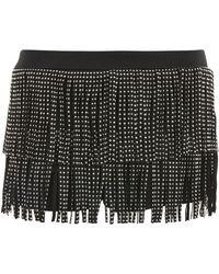 Jaded London - Black Stud Fringe Shorts By - Lyst