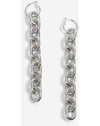 TOPSHOP - Mega Chain Drop Hoop Earrings - Lyst