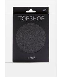 TOPSHOP - 20 Denier Glitter Tights - Lyst