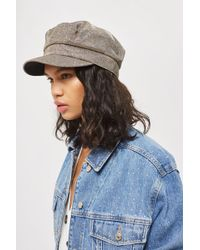 TOPSHOP - Glitter Baker Boy Hat - Lyst