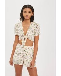 Oh My Love - Floral Print Shorts By - Lyst