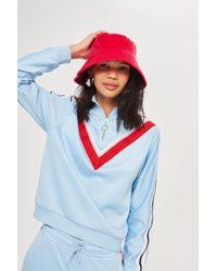 TOPSHOP - Velvet Bucket Hat - Lyst