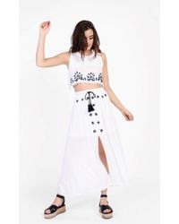 Glamorous - Contrast Embroidered Maxi Skirt By - Lyst