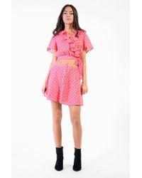 Glamorous - Rosebud Button Through Skirt By - Lyst