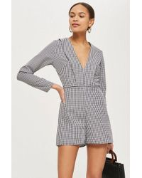 Oh My Love - printed Long Sleeve Playsuit By - Lyst