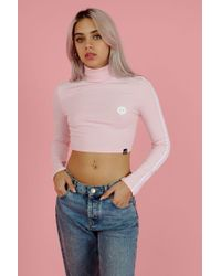 Illustrated People - Pink Polo Top By - Lyst