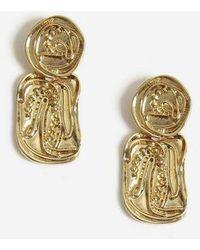 TOPSHOP - Engraved Detail Earrings - Lyst