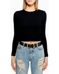 TOPSHOP - Clean Jeans Pu Belt - Lyst