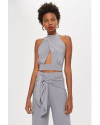 Love - high Neck Crossover Top By - Lyst