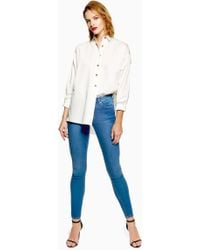 TOPSHOP - Id Blue Leigh Jeans - Lyst