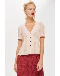 TOPSHOP - Leopard Print Jacquard Shirt - Lyst