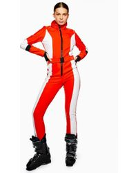 TOPSHOP - colour Block Snow Suit By Sno - Lyst