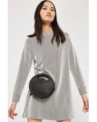 TOPSHOP - Petite Striped Sweat Dress - Lyst