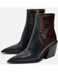 6838c9e33 TOPSHOP Briony Mesh Boots in Gray - Lyst