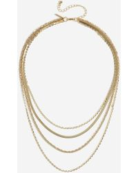 TOPSHOP - mix Chain Multiple Necklace - Lyst