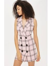 Love | Tuxedo Checked Bodycon Dress By | Lyst