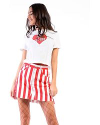 Glamorous - Striped Denim Skirt By - Lyst