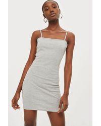TOPSHOP - Mini Bodycon Jersey Dress - Lyst