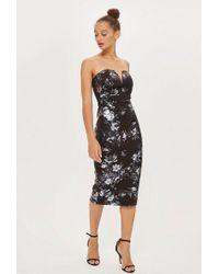 TFNC London - halo Iridescent Bodycon Midi Dress By - Lyst