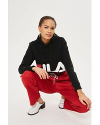 TOPSHOP - Exclusive Cropped Hoodie By Fila - Lyst