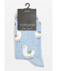 TOPSHOP - Llama Socks - Lyst