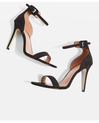 TOPSHOP - Wide Fit Marcelle Two Part Skinny Heel Sandals - Lyst