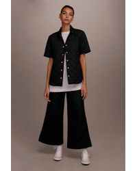 TOPSHOP - Quilted Awkward Cropped Trousers By Boutique - Lyst