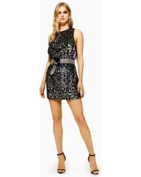 f695deb76cb0f Lyst - TOPSHOP Embroidered Lace Mini Dress in Black