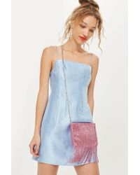 TOPSHOP - Future Beaded Cross Body Bag - Lyst